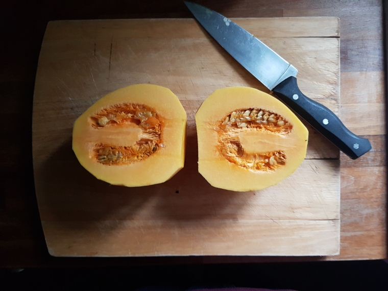 Halved Honey Bear Squash