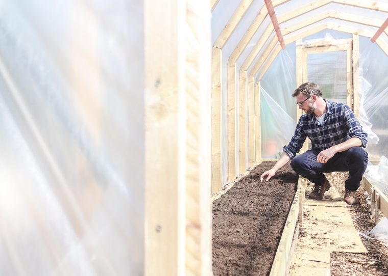 Polytunnel beds